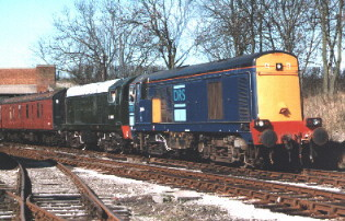 20306 and D8001 at Butterley